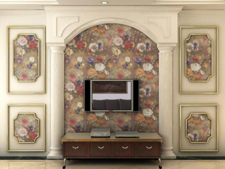 欧式简约无缝墙布客厅电视背景墙卧室壁布