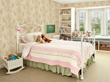 无缝墙布儿童房壁布男女孩房间可爱环保墙布