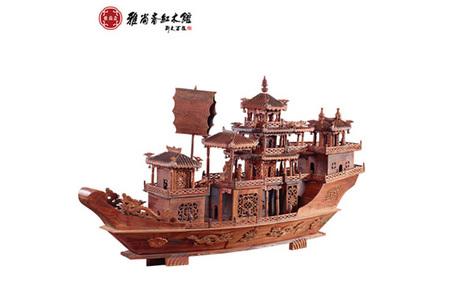 红木交趾黄檀工艺船工艺品