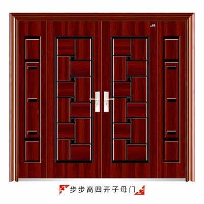 木纹板大铁门