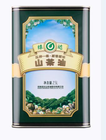 绿达野生茶油2.5L实惠装