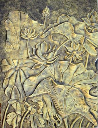 浮雕铁艺金属画